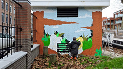 Mural Zeeheldentuin (Akbar Sim) Tags: streetart holland netherlands graffiti mural nederland denhaag thehague agga zeeheldenkwartier akbarsimonse akbarsim zeeheldentuin michielcorver