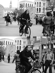 [La Mia Citt][Pedala] (Urca) Tags: milano italia 2016 bicicletta pedalare ciclista ritrattostradale portrait dittico bike bicycle nikondigitale mir biancoenero blackandwhite bn bw nn 89145
