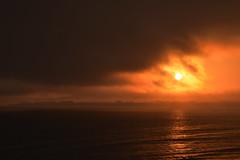 Sunset Over Santa Cruz 1 (227/366) (C.M. Keiner) Tags: santa cruz california pacific ocean sunset clouds fog summer beach coast