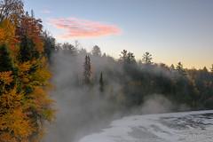 Tahquamenon Falls (2016-10-19 8202) (bechtelsf) Tags: tahquamenonfalls michign michigan upperpeninsula waterfall morning fog river water fall autumn leaves fallcolor nikon d810