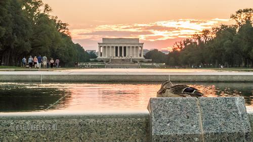 National mall sunset
