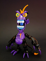 Baddmunk (Djokson) Tags: purple monster demon guy annoying video game enemy type orange black claws teeth djokson lego moc toy