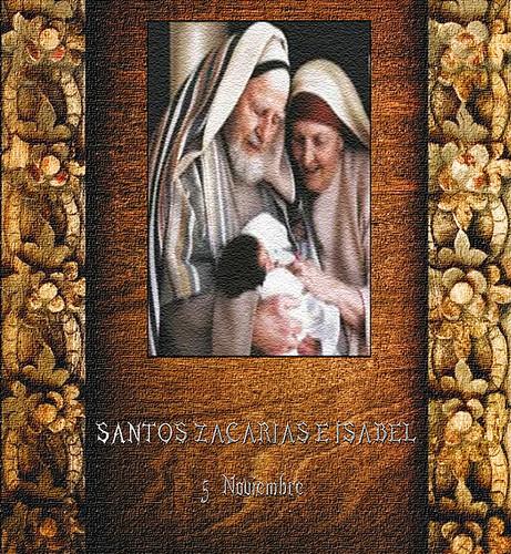 SANTOS ZACARIAS E ISABEL 5  Noviembre 2016.(†Dedicado  al P.Cotallo)