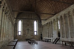The Refectory at Mont St Michel (big_jeff_leo) Tags: stmichaelsmount montstmichel france castle rock coast abbey monk stone walls towers medieval normandy history heritage ancient old column gothic tidal estuary unesco island