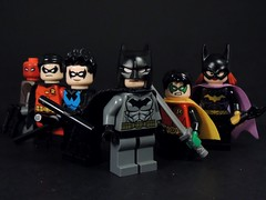 Bat-Family (MrKjito) Tags: lego minifig batman family robin night wing red hood batgirl jason todd tim drake dick grayson bruce wayne damian barbra gordon super hero comic comics dc