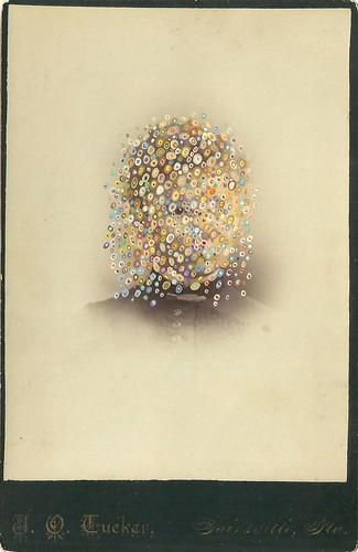 Tom Butler 'Tucker', 2014 Gouache on Albumen print 16.5x10.5cm