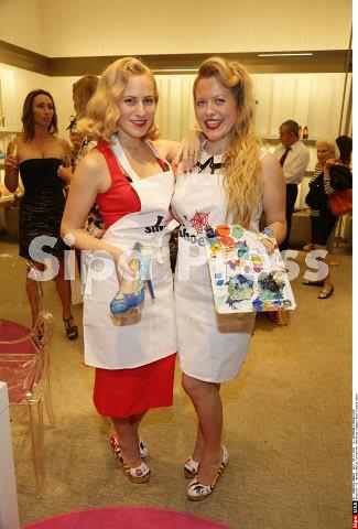 Charlotte Dellal and Boyarde Messenger Art Basel Neiman Marcus 2012 2