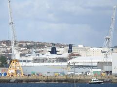 HMS Albion (mukaloon) Tags: hms albion ship amphibious devonport refit alongside water dock royal navy