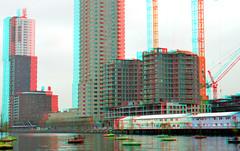 Boston & Seattle KOP van ZUID Rotterdam 3D (wim hoppenbrouwers) Tags: bostonseattle kopvanzuid rotterdam 3d anaglyph stereo redcyan rijunhaven harbour wilhelminapier