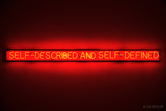 "Joseph Kosuth ""Self-Described and Self-Defined"", 1965 (Luca Bortolami) Tags: joseph kosuth 60s 1965 modern art arte moderna neon light museum lisboa lisbon lisbona"