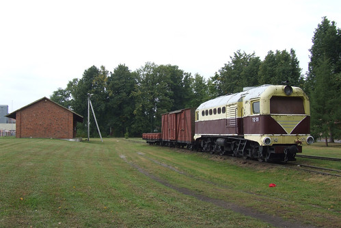Locomotive TU2 at the former Biržai narrow-gauge railway station, 10.08.2013.