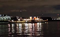 IMGP6297 (mattbuck4950) Tags: england unitedkingdom europe london water rivers boats reflections pswaverley night riverthames londonboroughoftowerhamlets royalboroughofgreenwich camerapentaxk50 lenssigma18250mm 2016 paddlesteamers thamespath gbr