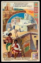 Liebig Tradecard S753 - Pueblo and Cliff Dwellings (cigcardpix) Tags: tradecards advertising ephemera vintage liebig chromo architecture