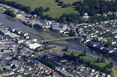 Wadebridge in Cornwall - aerial UK view (John D F) Tags: theoldbridge bridge wadebridge cornwall aerial aerialphotography aerialimage aerialphotograph aerialimagesuk aerialview britainfromabove britainfromtheair river camel