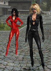 Ballet Heels (SoakinJo) Tags: highheels imvu leather catsuit pvc rubber latex balletheels fetish
