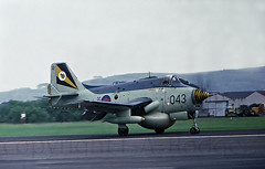 GANNET  AEW3 PRESTWICK 1970'S (TF102A) Tags: aviation aircraft kodachrome prestwick gannet fairey faa royalnavy