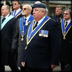 More medals (* RICHARD M (Over 5.5 million views)) Tags: street candid portraits portraiture streetportraits streetportraiture candidportraits candidportraiture medal bemedaled berry exservicemen veterans vets medals remembrancesunday remembranceday lestweforget wewillrememberthem remembrance pride proud hefty southport sefton merseyside parades marching marchers marches
