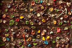 Pike Place Market gum wall in alley (Jim Corwin's PhotoStream) Tags: markettheatre nw northamerica pacificnorthwest pikeplacemarket seattle abundance alley architecture arrangements attractions bubblegum building candy chewinggum covered creativity day daytime destinations display downtown facade fad food fresh fun funny gum gumwall horizontal humor humorous individuality landmark local market merchant multicolored nobody northwest openairmarket outdoors pattern patterns penairmarket photographing photography placestosee publicart sideofbuilding sightseeing sticky strange stuck sweets takingpics tourism tourists travel trend unique urbanscene variation variety wall weird