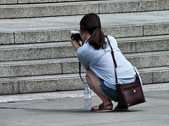 Trafalgar Square Tourists (Waterford_Man) Tags: london girl streets people summer candid camera hot