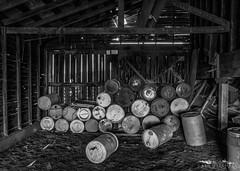 Barrel Barn - Whitman County, Washington (Tactile Photo | Greg Mitchell Photography) Tags: palouse spring colfax washington damaged old rollinghills dusty hills wood clouds wheat friday dirtroad saturday barn grey ranch june house weathered gravelroad farm broken abandon farming field