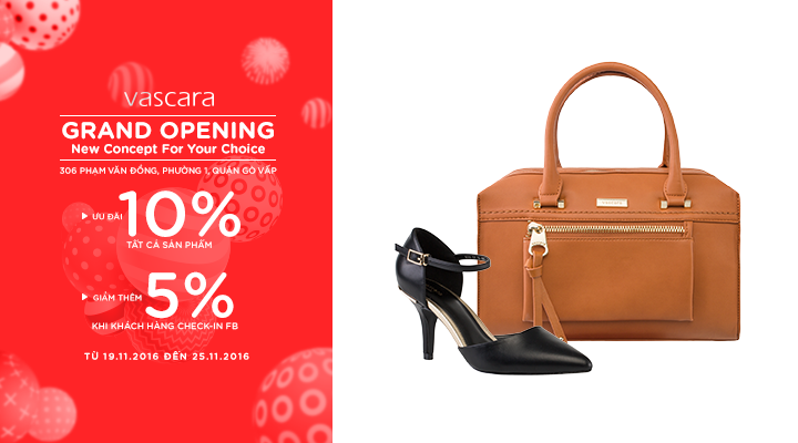 Grand Opening Vascara Phạm Văn Đồng – Ưu đãi 10% tất cả sản phẩm & giảm thêm 5% khi check-in