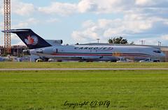 Boeing 727-223 C-FCJV Cargojet (EI-DTG) Tags: planespotting aircraftspotting ottawa yow macdonaldcartierairport 11sep2016 boeing ontario cfcjv 727 boeing727 cargojet freighter cargo plane