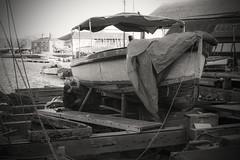 On the slip...... (Dafydd Penguin) Tags: underfall bristol harbour harbor port dock floating water vessel boat yard repair slip wood blackandwhite blackwhite black white bw monochrome traditional shipwright nikon df nikkor 50mm af f14d