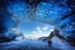 Ice Cave (yan08865) Tags: ice cave iceland vatnajokull landscape winter photos mountain caves glacier snow adventure icelandic water texture blue outdoor