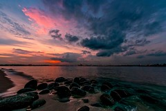La Mer  (Anna Kwa) Tags:  sea lamer sunset clouds beach rocks singapore annakwa nikon d750 afszoomnikkor1424mmf28ged my soul always seeing throughmylens sky seaside shore water debussy longexposure victorhugo remembrance