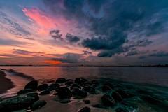 La Mer 海 (Anna Kwa) Tags: 海 sea lamer sunset clouds beach rocks singapore annakwa nikon d750 afszoomnikkor1424mmf28ged my soul always seeing throughmylens sky seaside shore water debussy longexposure victorhugo remembrance