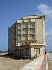 White  Horse Hotel, Trapani beach front hotel (ajhammu0) Tags: whitehorse hotel trapani beach sicily 2016