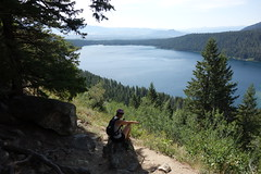Day hike (Mike Burns) Tags: grandtetons lake trees valley