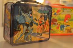 Batman helping Robin (radargeek) Tags: washingtondc dc museum nationalmuseumofamericanhistory americanhistory batman robin woodywoodpecker lunchbox
