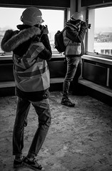 2016_325 (Chilanga Cement) Tags: fuji fujix100t fujixt1 x100t xseries x100s x100 x bw blackandwhite monochrome photographer photographers window windows 9th floor hardhat hivis