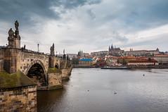 The bridge on the river Moldau (Charles Bridge, Prague) (Sven RT) Tags: moldau prag karlsbrcke
