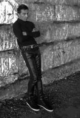 Sriram (tacosnachosburritos) Tags: chicago il illinois viaduct concrete stones man guy bloke chap sexy hunk thin model male brooding windy city urban gritty