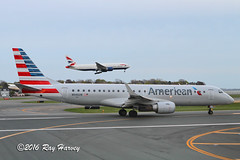 N946UW (320-ROC) Tags: americanairlines american britishairways speedbird n946uw embraer embraer190 embraererj embraererj190100igw erj190 erj190100igw erj e190 kbos bos bostonloganinternationalairport bostonairport boston