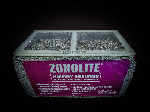 Zonolite Asbestos Contaminated Vermiculite Masonry Insulation Sample