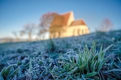 frosty morning (Andreas669) Tags: mühlviertel oberösterreich wenzelskirche kirche church frost winter wintermorgen wintermorning gras manual focus samyang 12mm f2