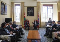 جلالة الملك عبدالله الثاني يلتقي رئيس مجلس النواب النيوزيلاندي، ديفيد كارتر (Royal Hashemite Court) Tags: الأردن الملك نيوزيلندا عبدالله jordan joroyalvisit kingabdullahii kingabdullah new zealand