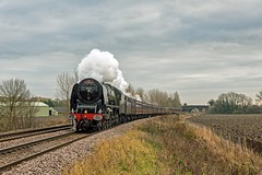 The Cathedrals Express 46233 at Donington (FlyingScotsman4472) Tags: lms 46233 duchess sutherland 1st december 2016 donington steam lincoln sleaford spalding