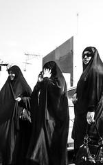 smiling (paologmb) Tags: pure allah islam chador sunglasses woman walking style shia friday abaya faith bahrain smiling lol hijab