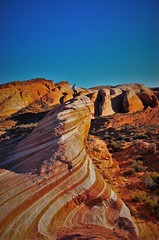 The Wave (loongandrew) Tags: park las vegas sunset color rock d50 fire nikon sandstone state indian nevada wave formation valley reservation moapa
