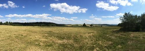 Panorama na Połoninki Arłamowskie z Wierchu