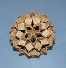 Dodecahedron with stars (mganans) Tags: origami origamimodular polyhedra snapology
