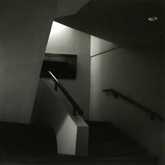 A dim lit place (Alfred ter Wal) Tags: bw 120 6x6 film analog mediumformat bilbao guggenheim mf