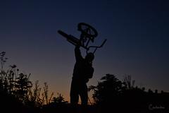 #49 (Carla Ibáñez Acinas) Tags: boy sun moon mountain man sol bike dark forrest sombra luna bosque bici chico silueta montaña hombre anochecer figura fuerza bibicleta