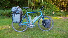 Swiss Cyclotourist Steed at Old Fort Townsend. (socalpedalpusher) Tags: camping washington bikes olympics cyclotouring
