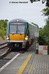 22009 approaches Portlaoise, 7/9/15 (hurricanemk1c) Tags: irish train rail railway trains railways irishrail rok rotem portlaoise 2015 icr iarnród 22000 22009 éireann iarnródéireann 3pce 0920heustonportlaoise