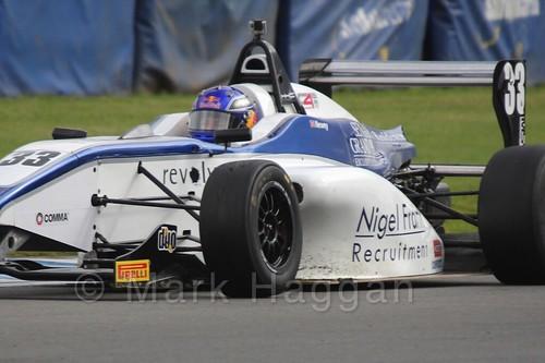 Hari Newey in BRDC F4 at Donington Park, September 2015